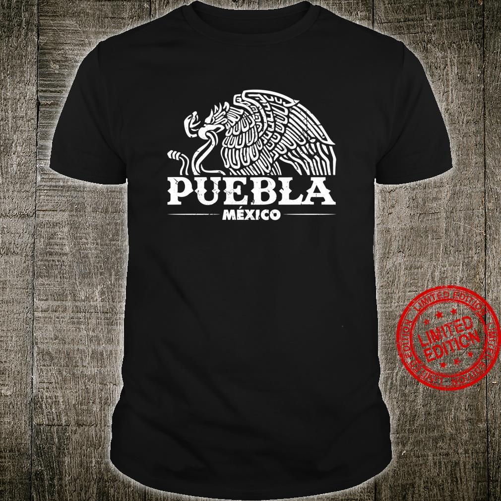 Puebla Mexico Eagle Vintage Retro Distressed Shirt