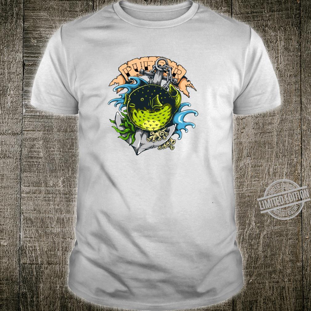 Puffer Fish Keeper Tattoo Stil Marine Fish Keeper Shirt