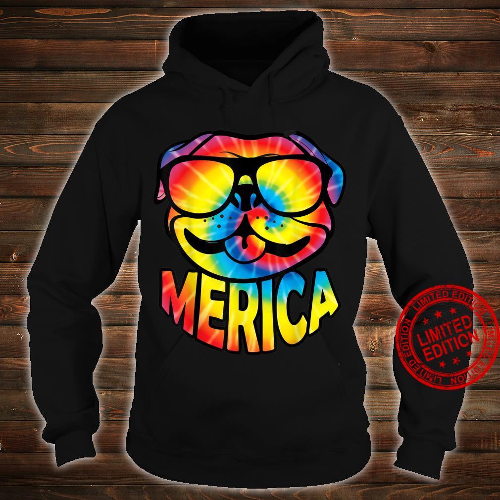 Pug Merica 4th Of July Tie Dye American Dog Shirt hoodie
