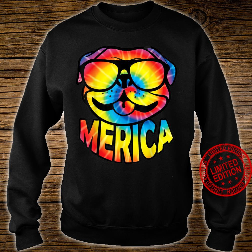 Pug Merica 4th Of July Tie Dye American Dog Shirt sweater