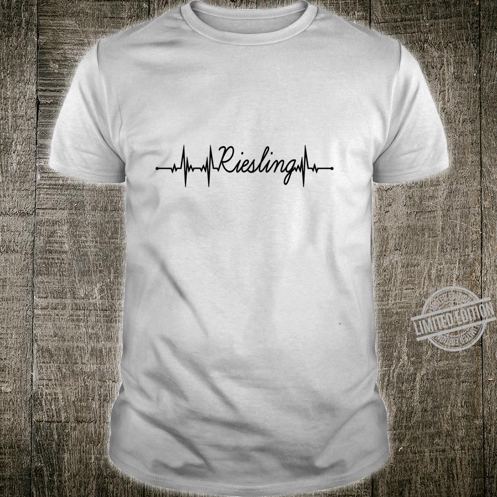 Riesling EKG Herzschlag Heartbeat Puls Wein Sekt Geschenk Shirt