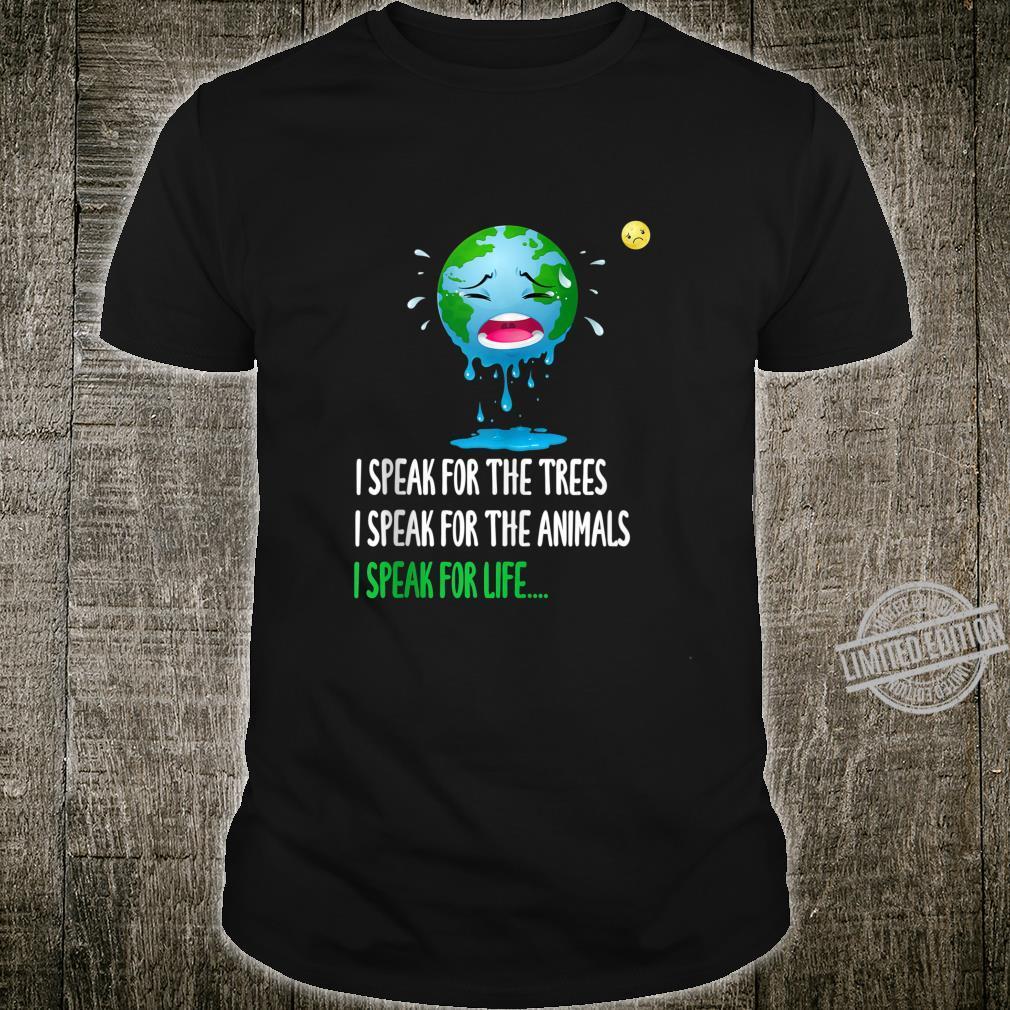 Sad Mother Earth Speak Earth day 2020 50th anniversary Shirt