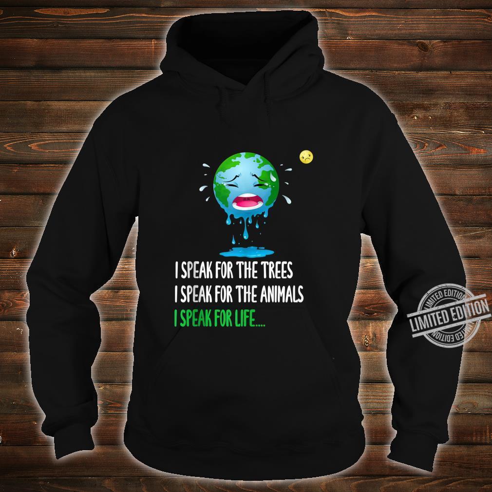 Sad Mother Earth Speak Earth day 2020 50th anniversary Shirt hoodie