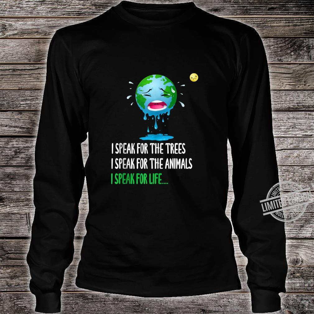 Sad Mother Earth Speak Earth day 2020 50th anniversary Shirt long sleeved