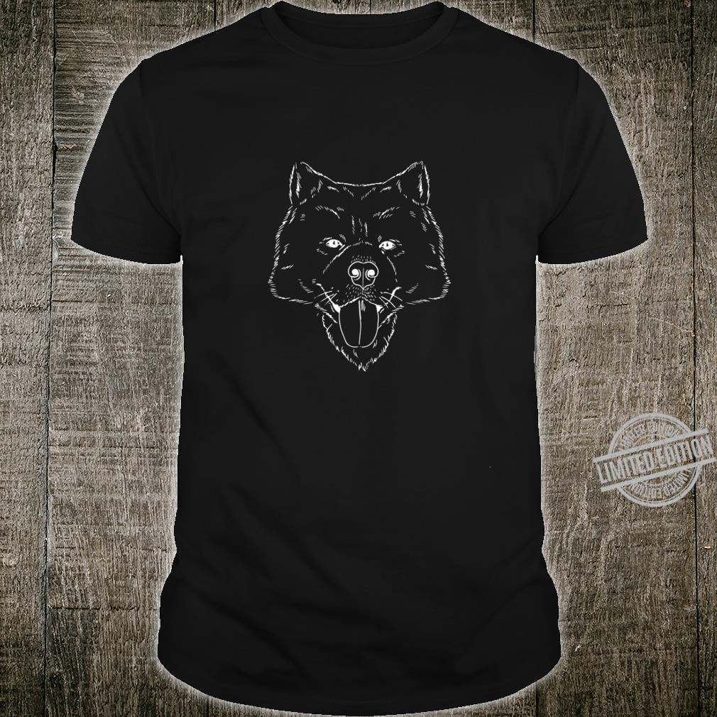 Samoyed Dog Owner Bjelkier Sammy Smiley Sketch Top Shirt