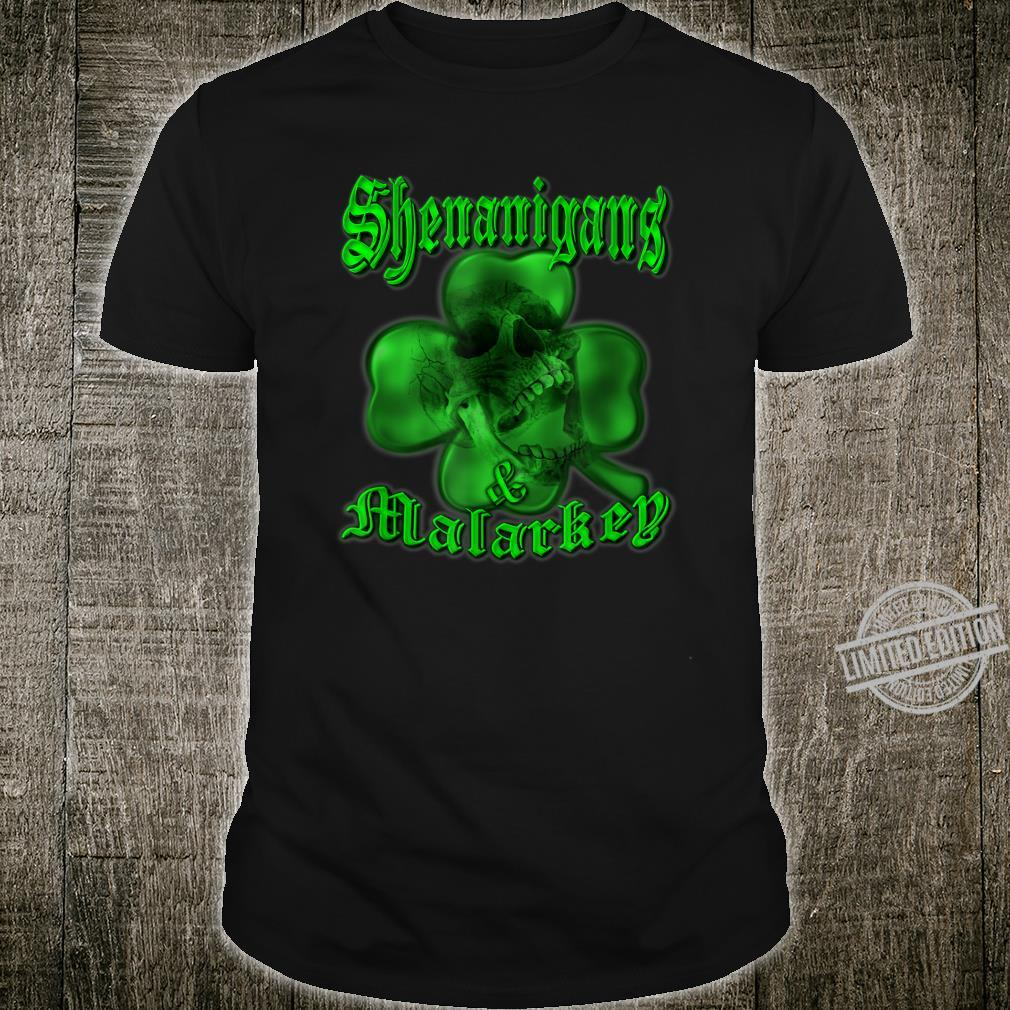 Shenanigans & Malarkey Skull Shamrock St. Patrick's Day Shirt