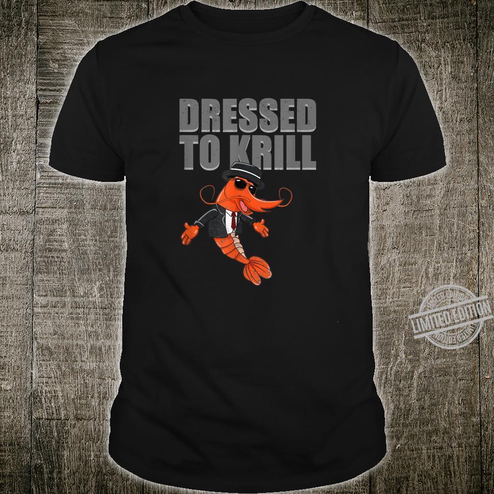 Shrimp Dressed To Krill Retro Prawn Cartoon Seafood Shirt