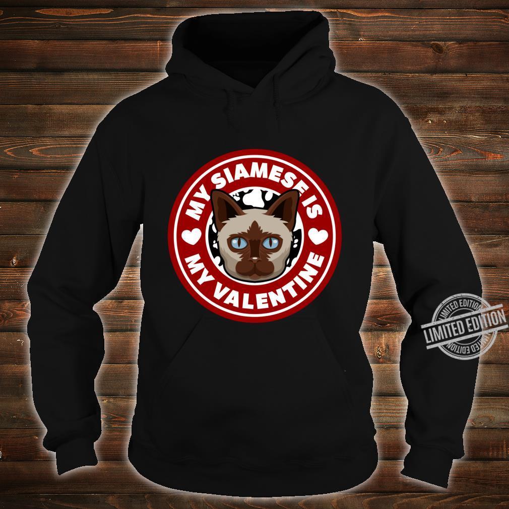 Siamese Cat Valentine Heart Valentine's Day Shirt hoodie