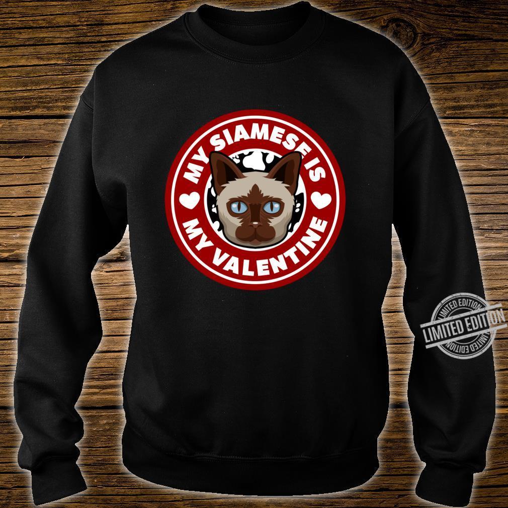 Siamese Cat Valentine Heart Valentine's Day Shirt sweater