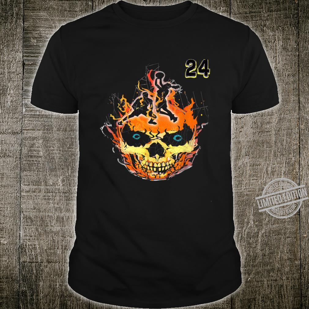 Skeleton,Player Number 24 Basketball,Halloween Shirt