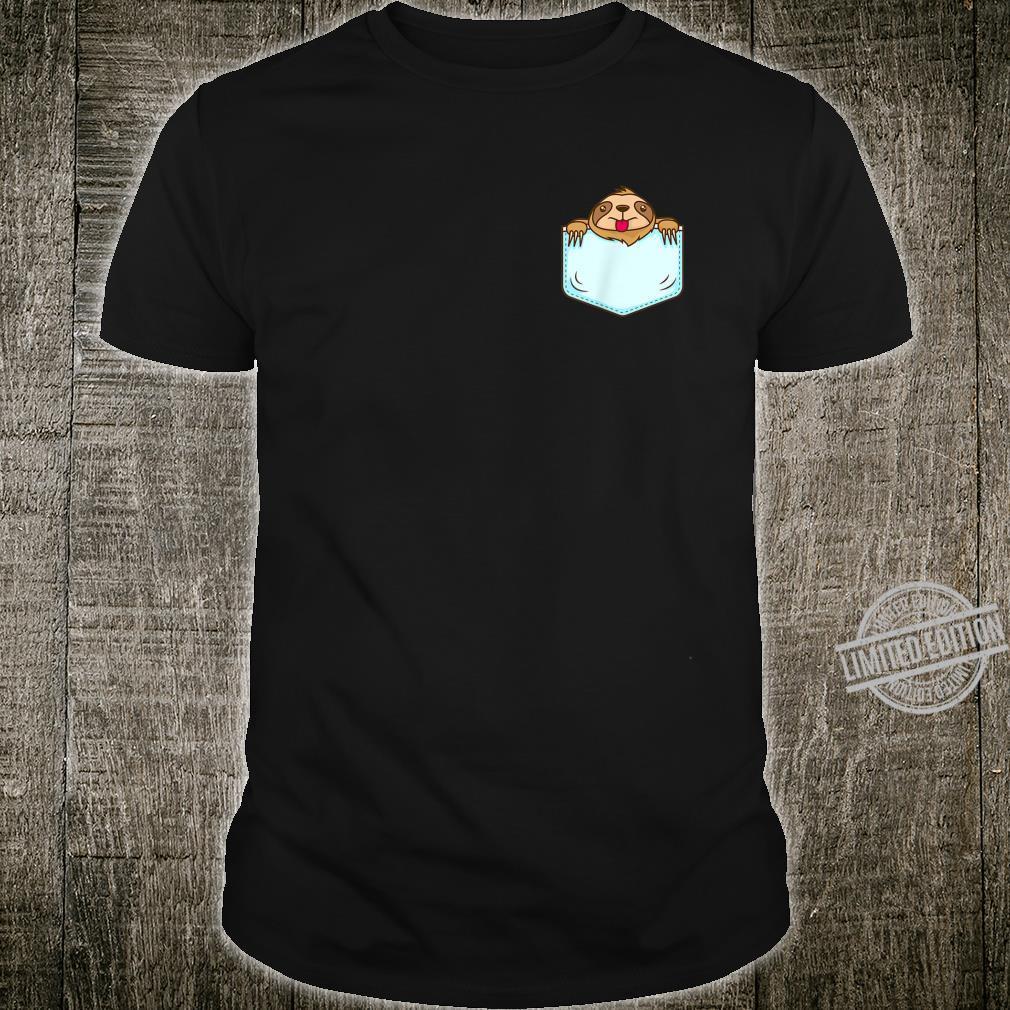 Sloth in Pocket Cute Sloth Shirt Shirt
