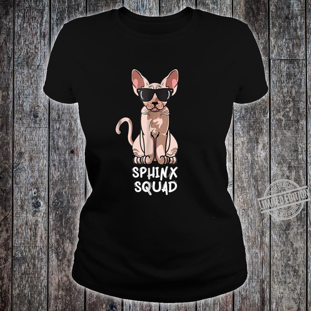 Sphynx Cat Squad Cat Sunglasses Squad Shirt ladies tee