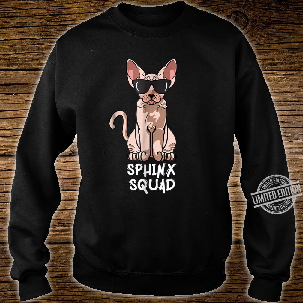 Sphynx Cat Squad Cat Sunglasses Squad Shirt sweater
