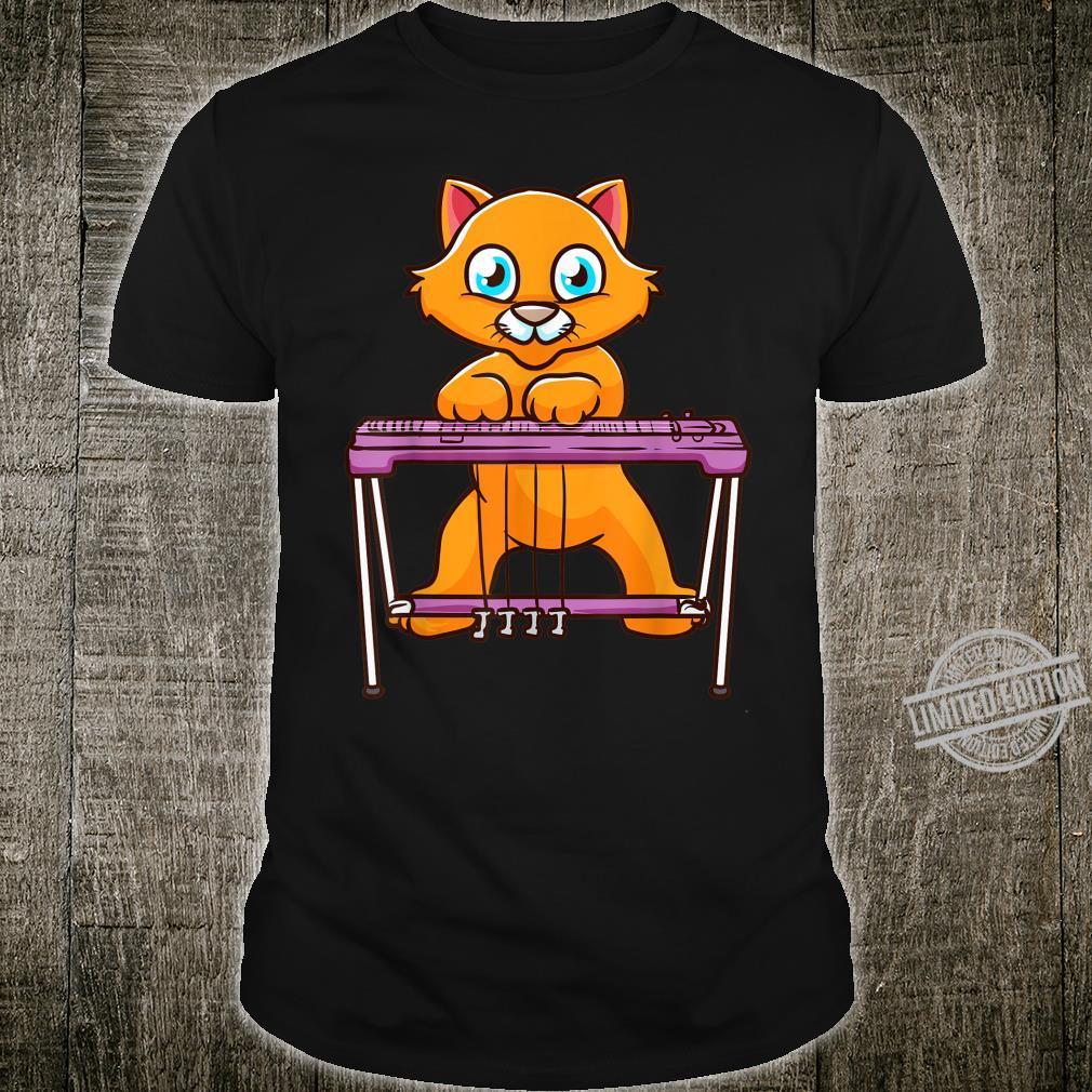 Steel Guitar Music by a Cute Cat Shirt