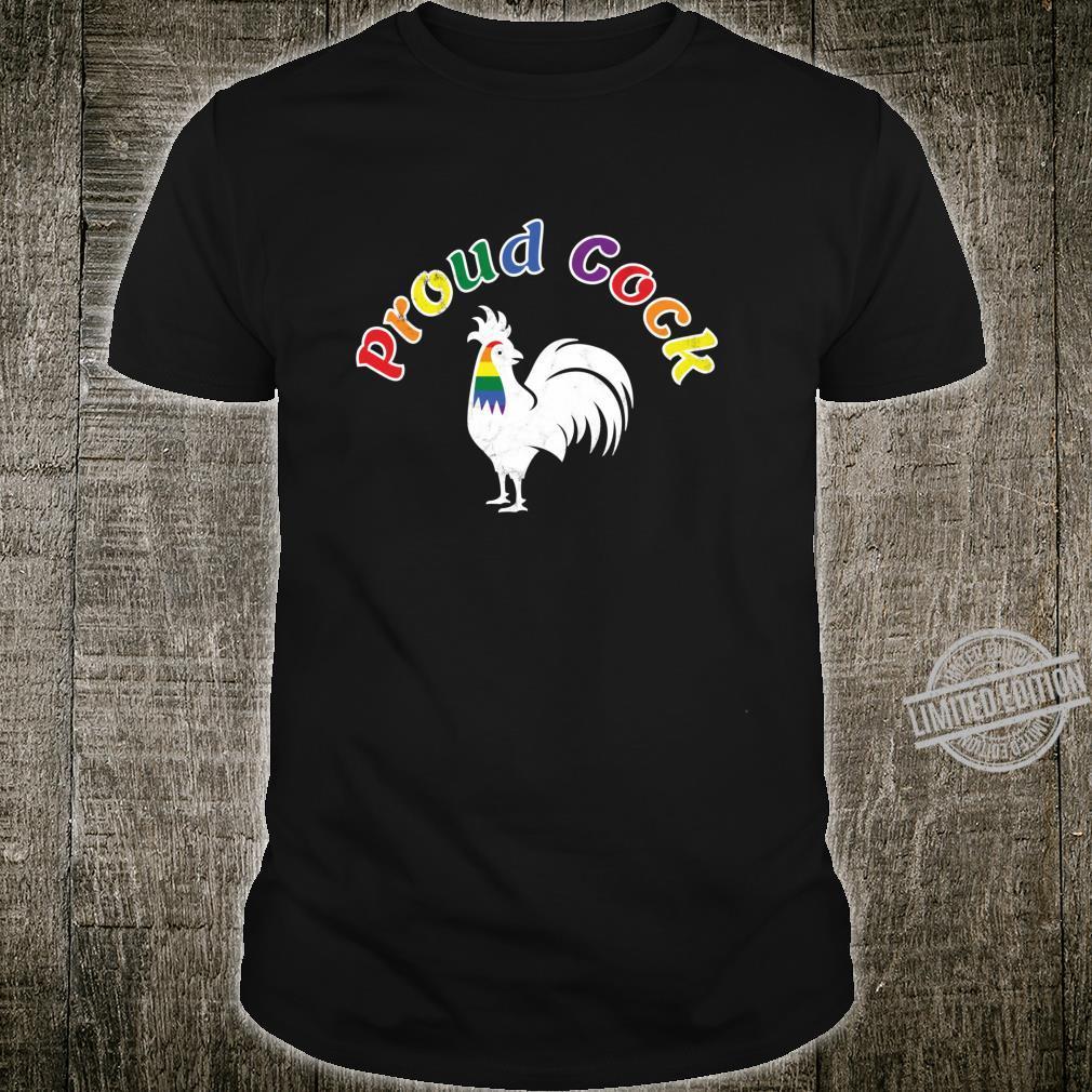 Stolzer Hahn Witziger Hahn Gay Pride Parade LGBTQ Langarmshirt Shirt