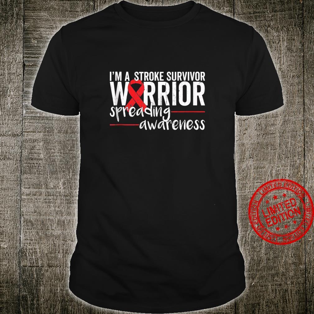 Stroke Awareness Warrior Recovery Red Ribbon Shirt