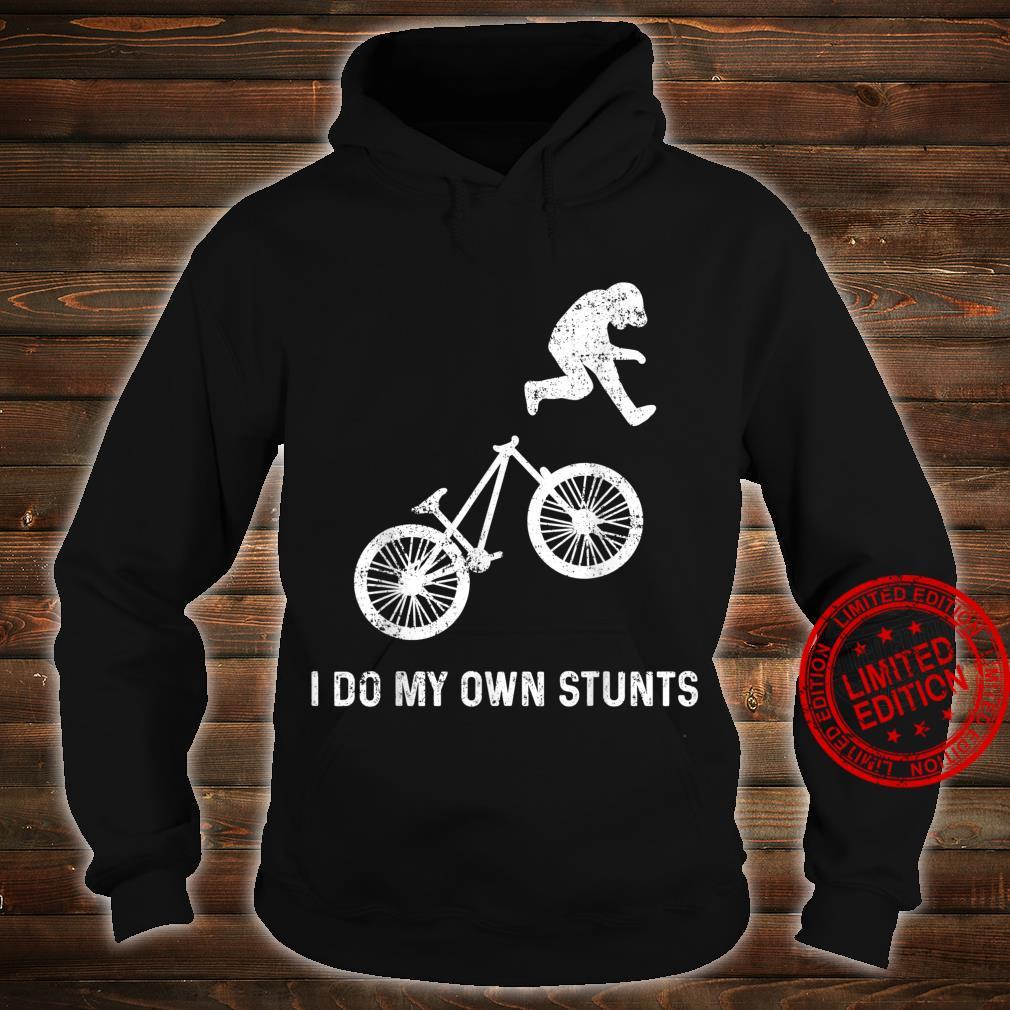 Stunts Humor Radfahren Fallen Hinfallen Verletzen Shirt hoodie