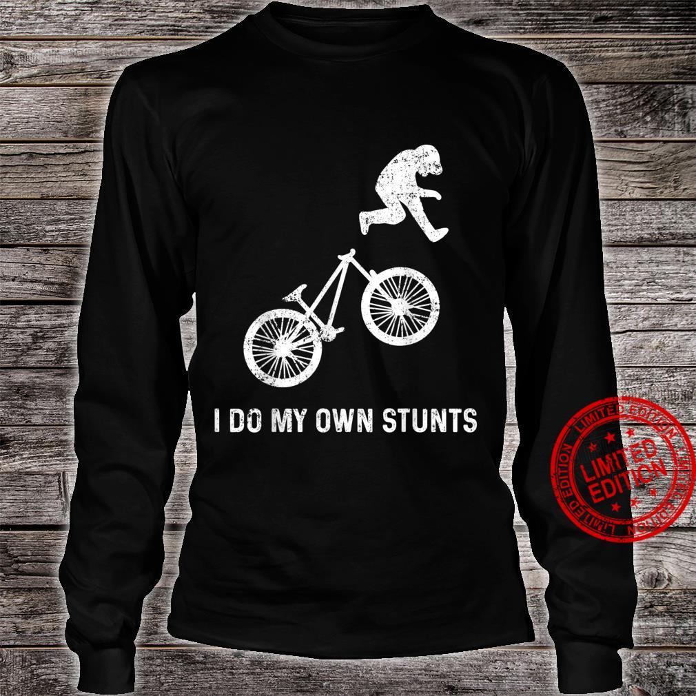 Stunts Humor Radfahren Fallen Hinfallen Verletzen Shirt long sleeved