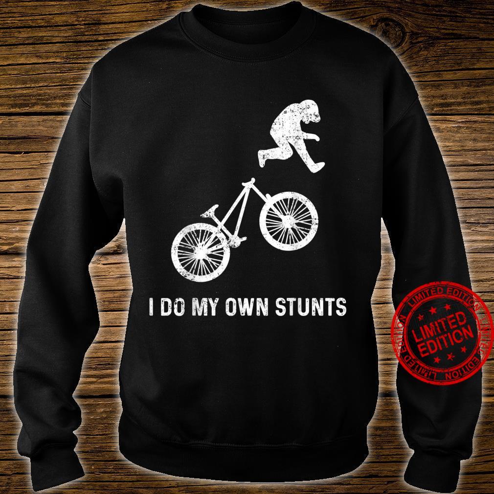Stunts Humor Radfahren Fallen Hinfallen Verletzen Shirt sweater