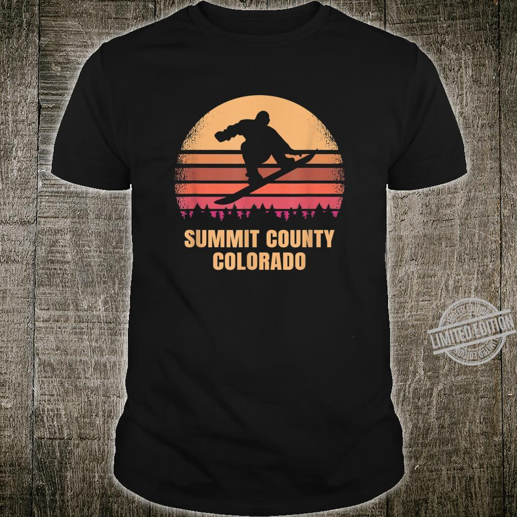 Summit County Snowboarding Colorado Vintage Rocky Mountains Shirt