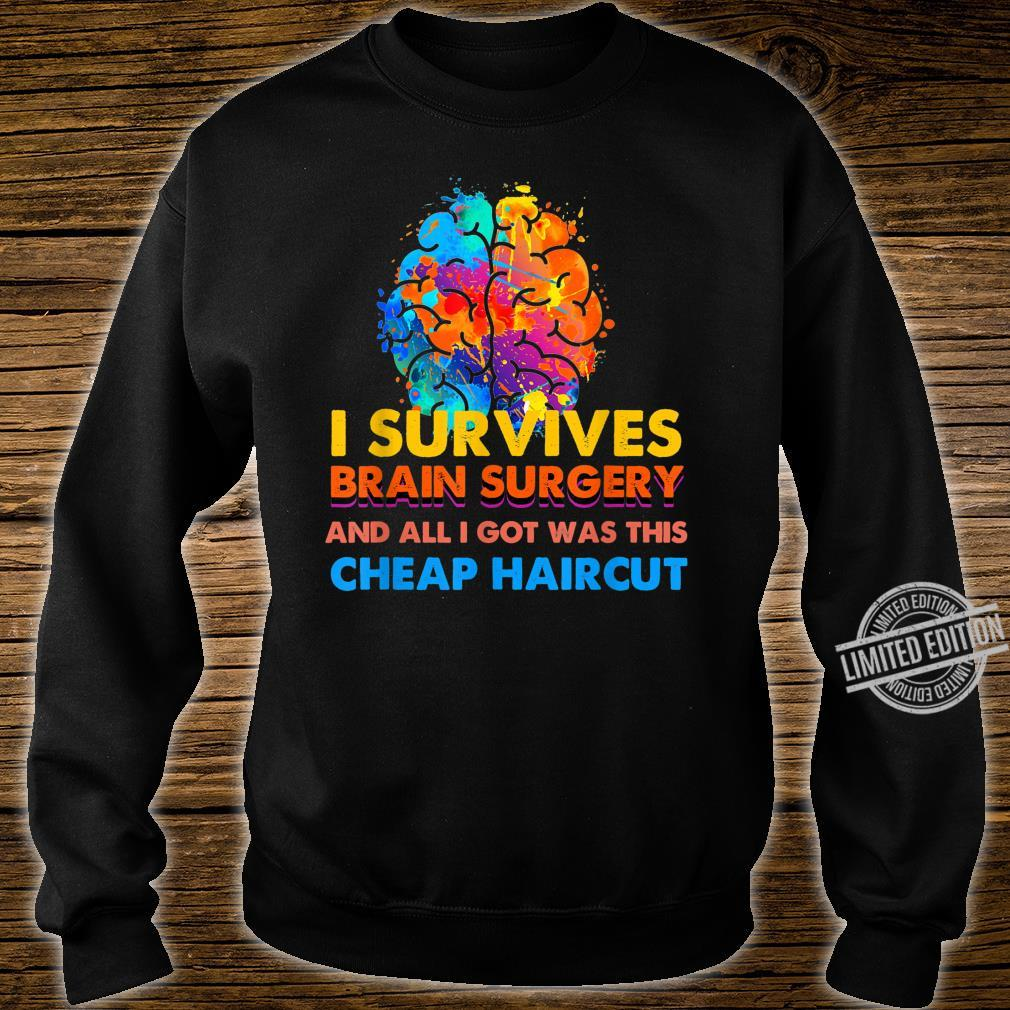 Survived Brain Surgery Got Cheap Haircut Shirt sweater