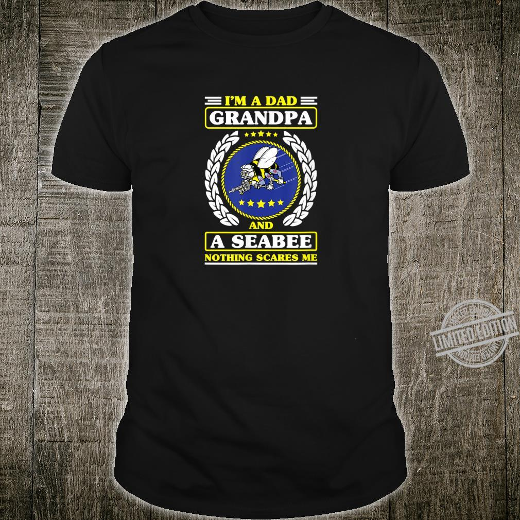 US Navy Shirt Seabee Patch for Veterans Shirt
