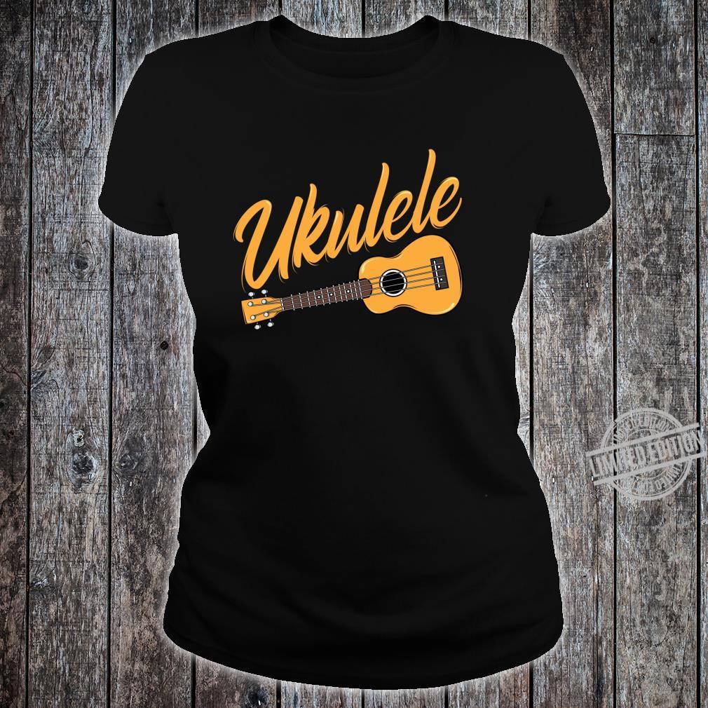 Ukulele Player Music Instrument Guitar Idea Shirt ladies tee