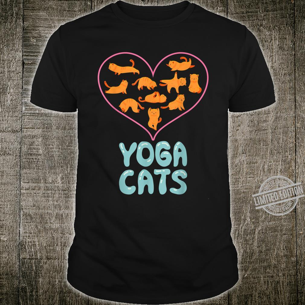Valentines Day Pink Love Heart Yoga Cats from Husband Shirt
