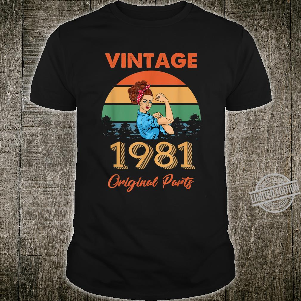 Vintage 1981 Made In 1981 39th Birthday 39 Years Old Shirt