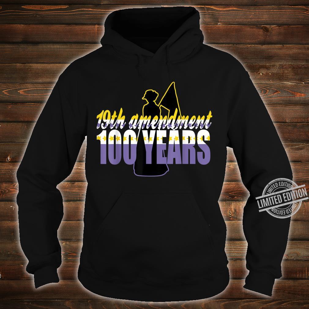 Vintage 19th Amendment Holding Flag 100 Years Shirt hoodie