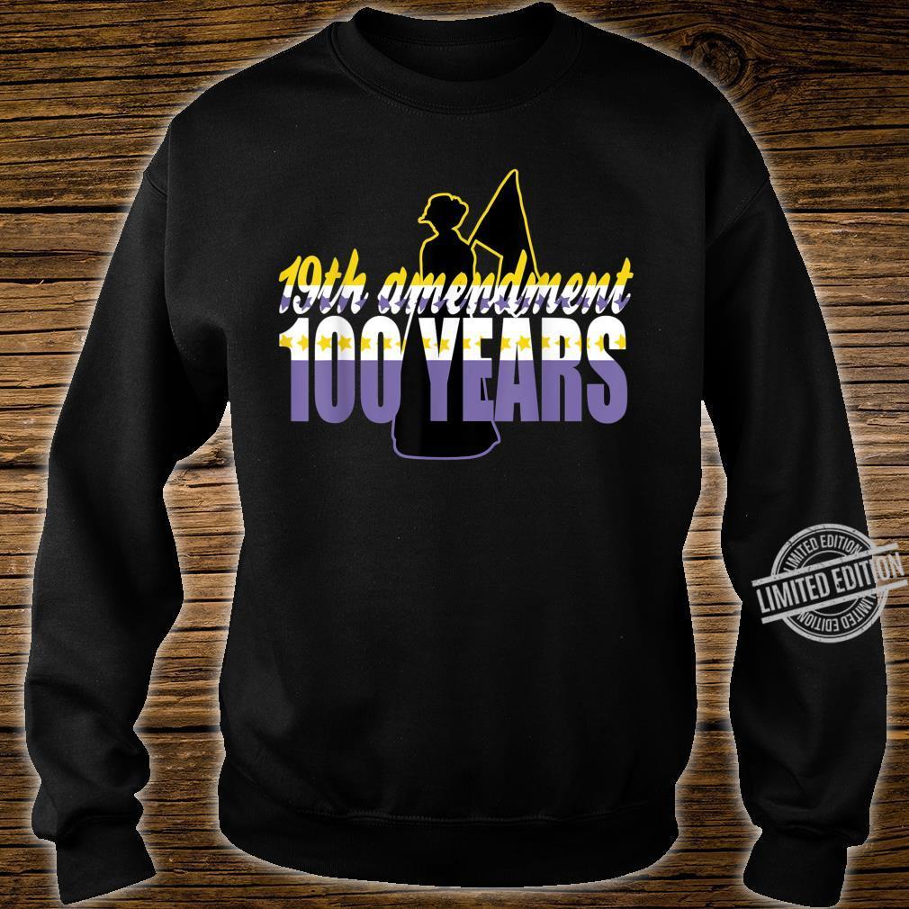 Vintage 19th Amendment Holding Flag 100 Years Shirt sweater
