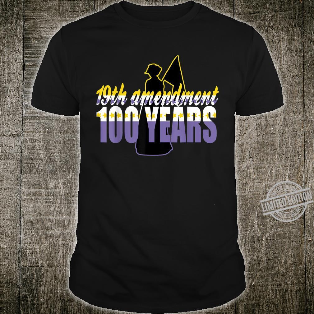 Vintage 19th Amendment Holding Flag 100 Years Shirt