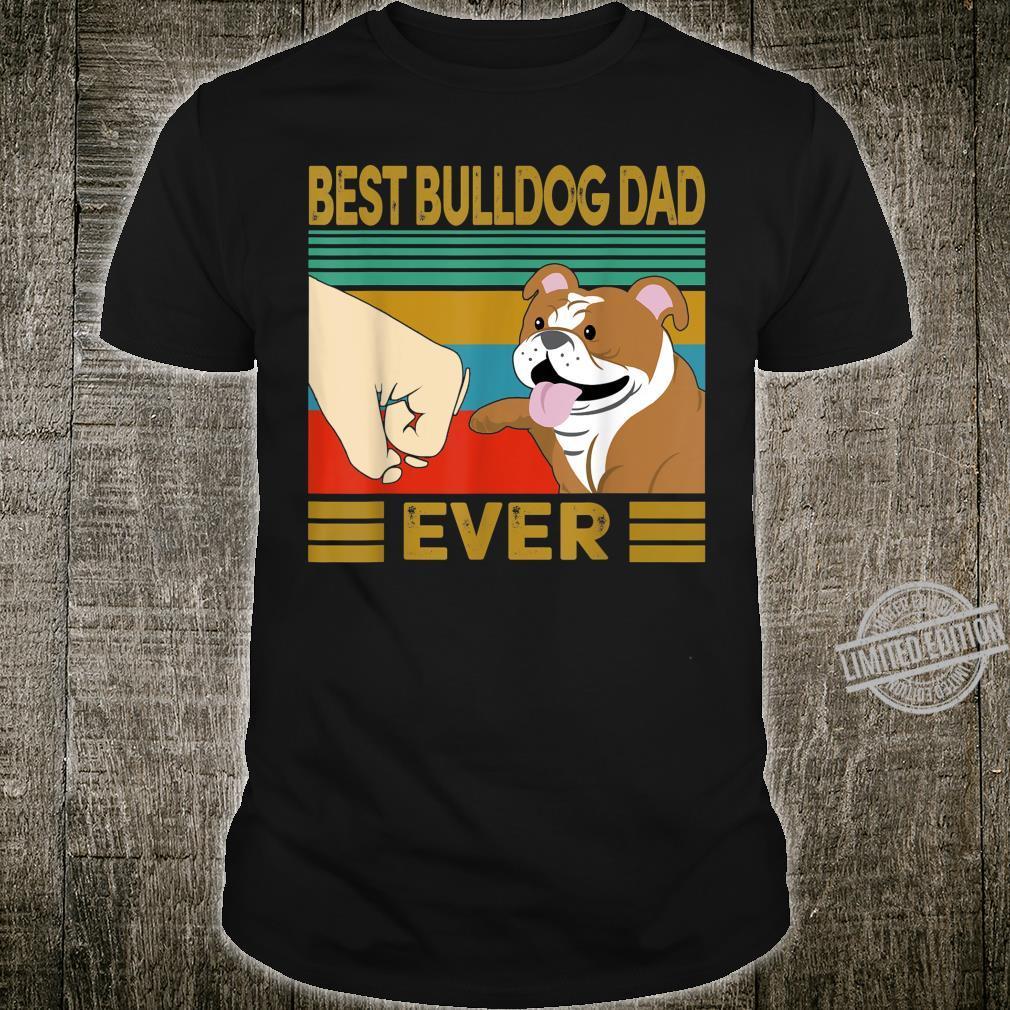 Vintage Best Bulldog Dad Ever Bump Shirt