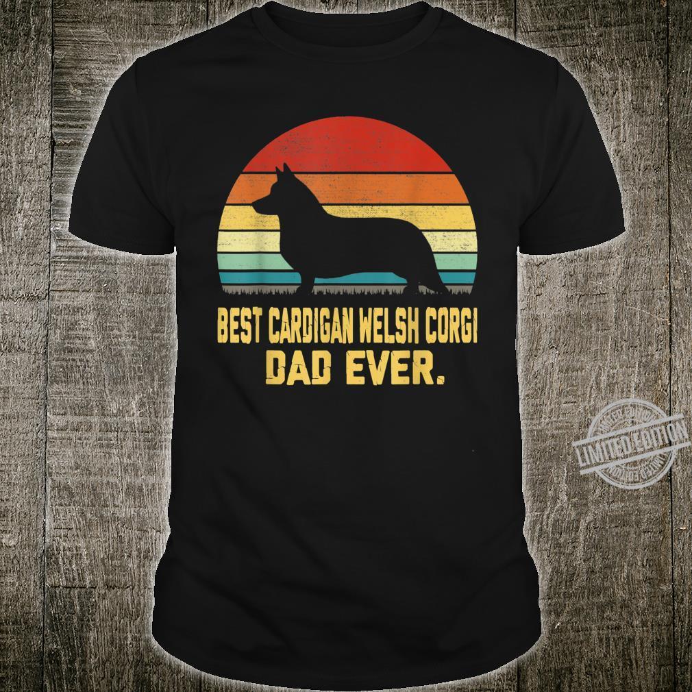 Vintage Best Cardigan Welsh Corgi Dad Ever Shirt
