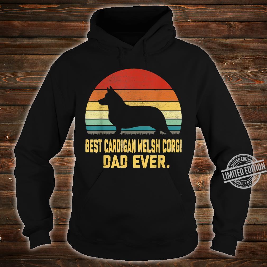 Vintage Best Cardigan Welsh Corgi Dad Ever Shirt hoodie