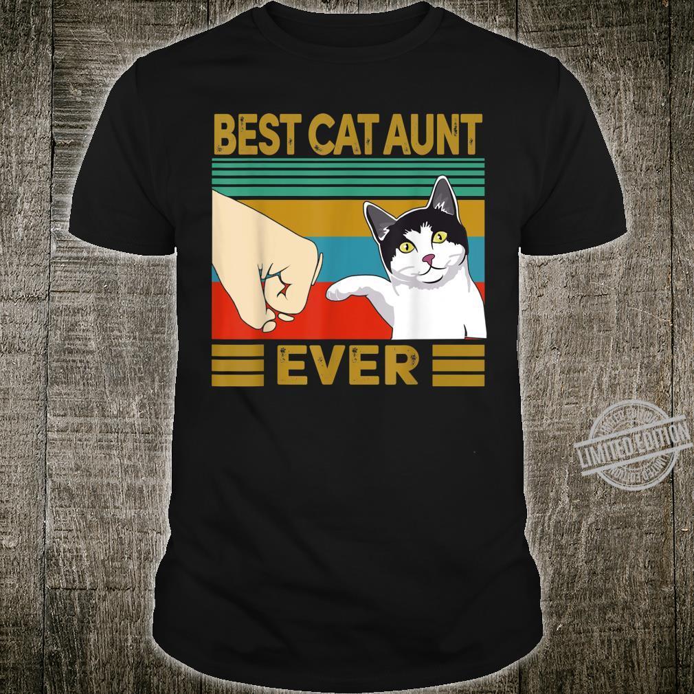 Vintage Best Cat Aunt Ever Bump Shirt