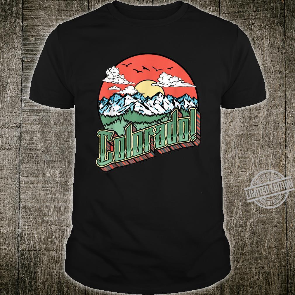 Vintage Colorado Retro Vibe 70's Outdoor Artistic Shirt