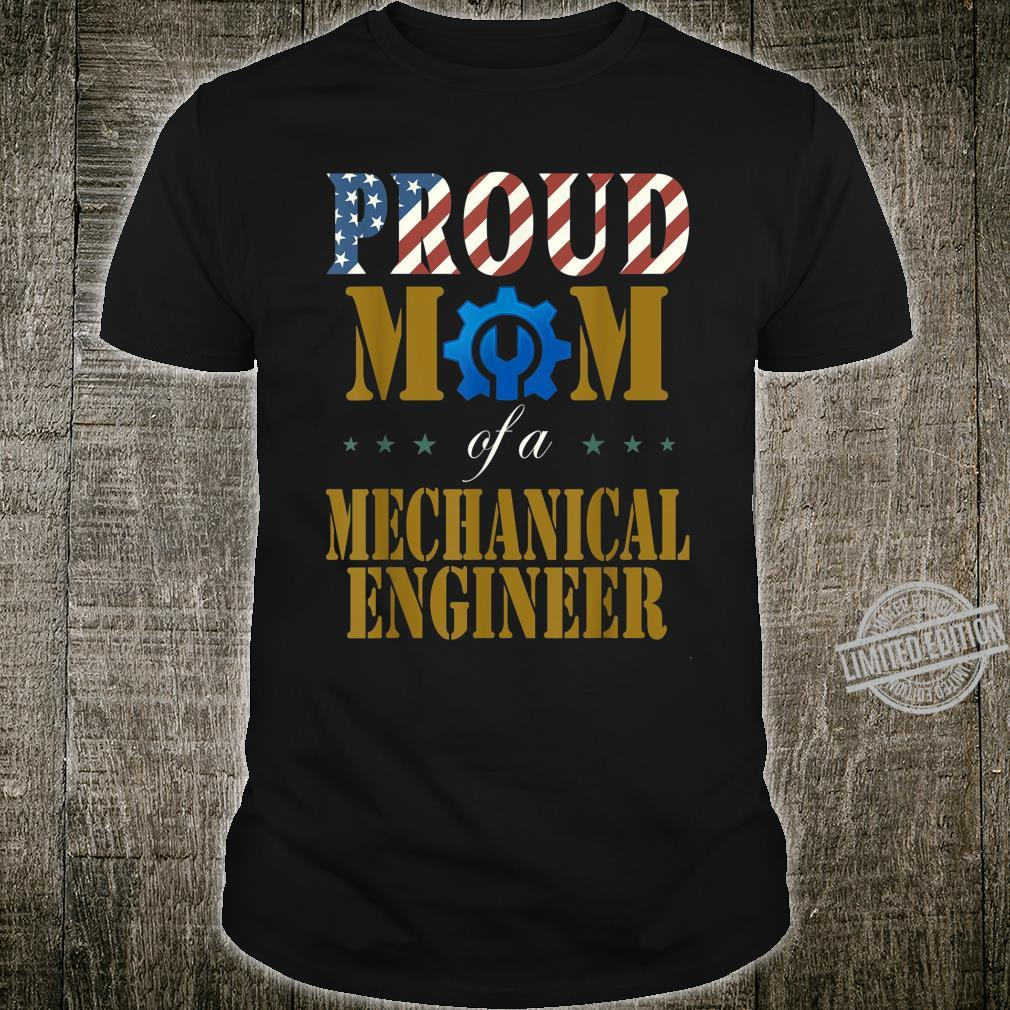 Vintage Flag American Proud Mom of a Mechanical Engineer Shirt