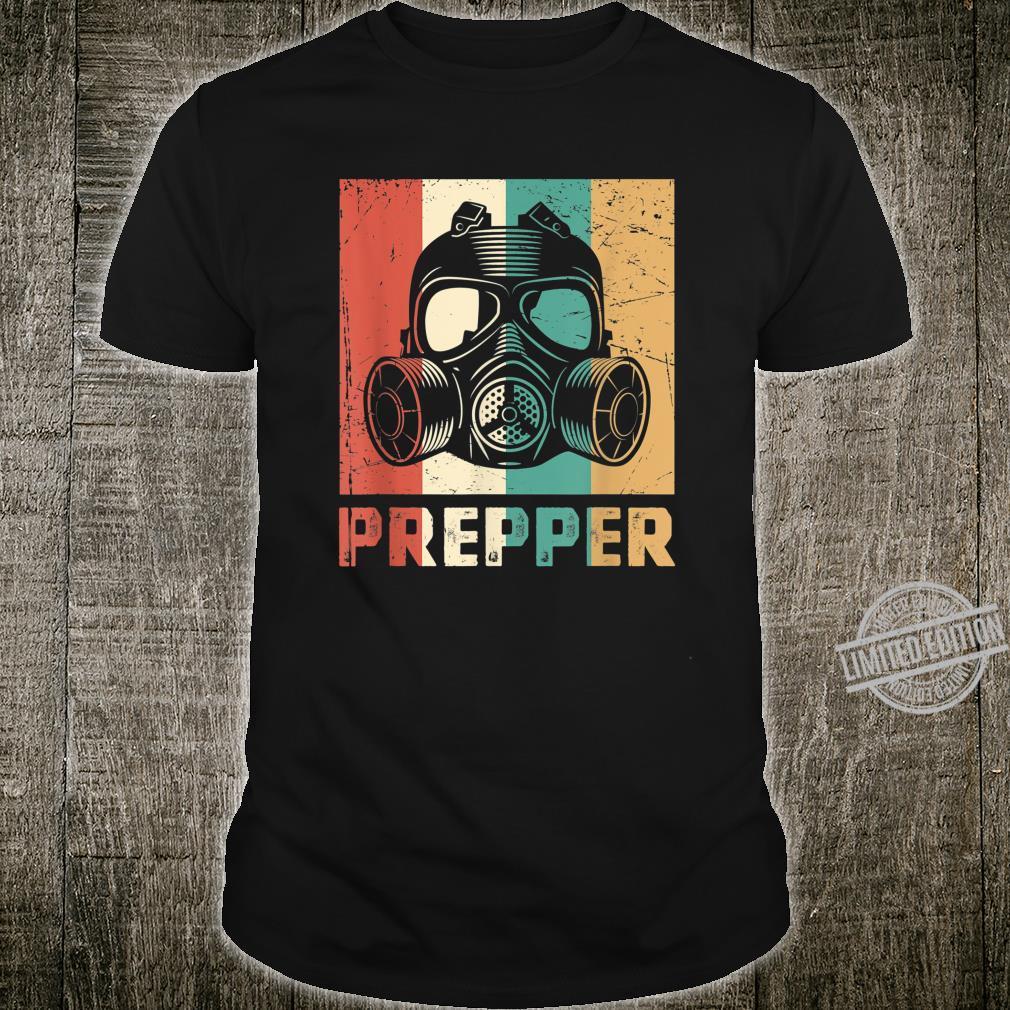 Vintage Prepper Mask Retro Rainbow Homesteader Shirt