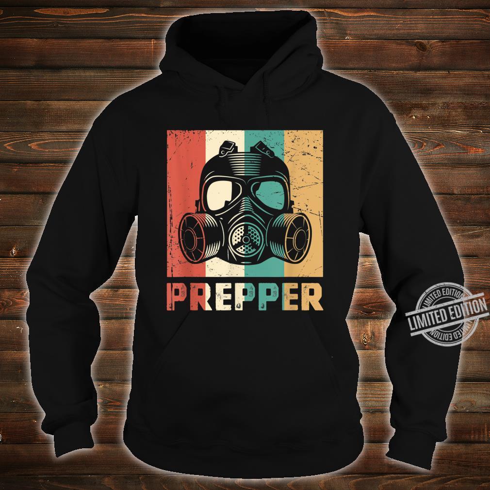 Vintage Prepper Mask Retro Rainbow Homesteader Shirt hoodie