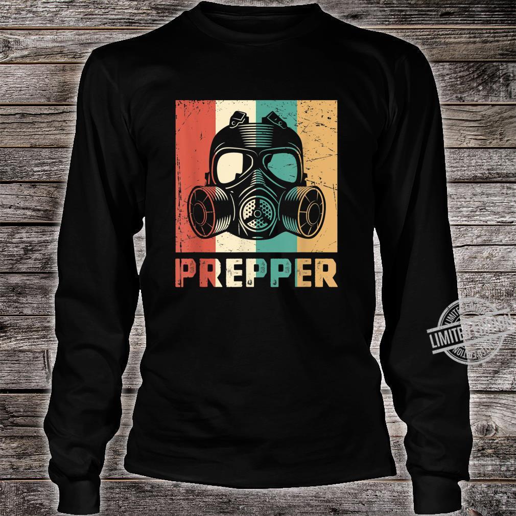 Vintage Prepper Mask Retro Rainbow Homesteader Shirt long sleeved