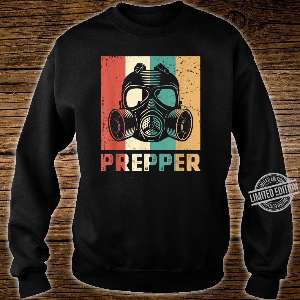 Vintage Prepper Mask Retro Rainbow Homesteader Shirt sweater