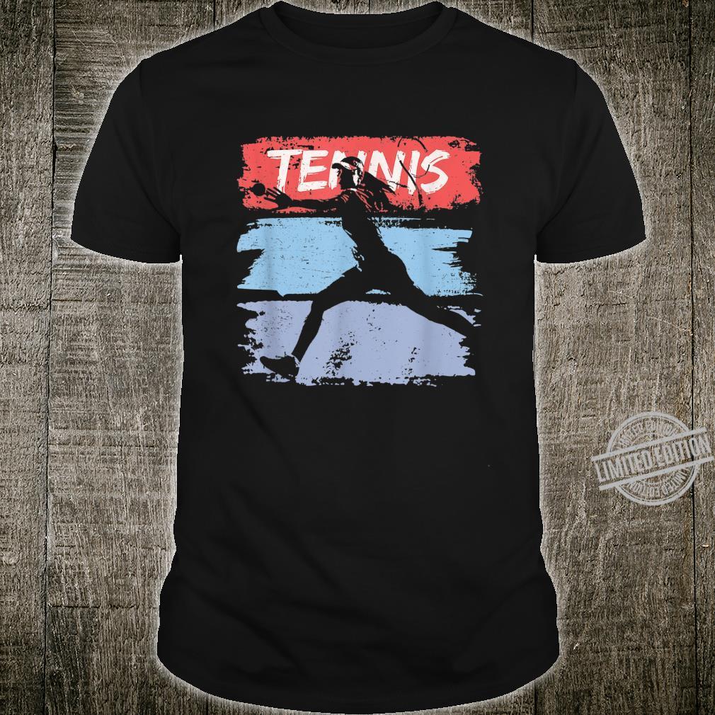 Vintage Retro color Tennis player female girl mother Shirt