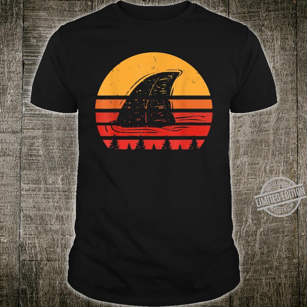 Vintage Shark Fin Retro Marine Biologist Scientist Shirt