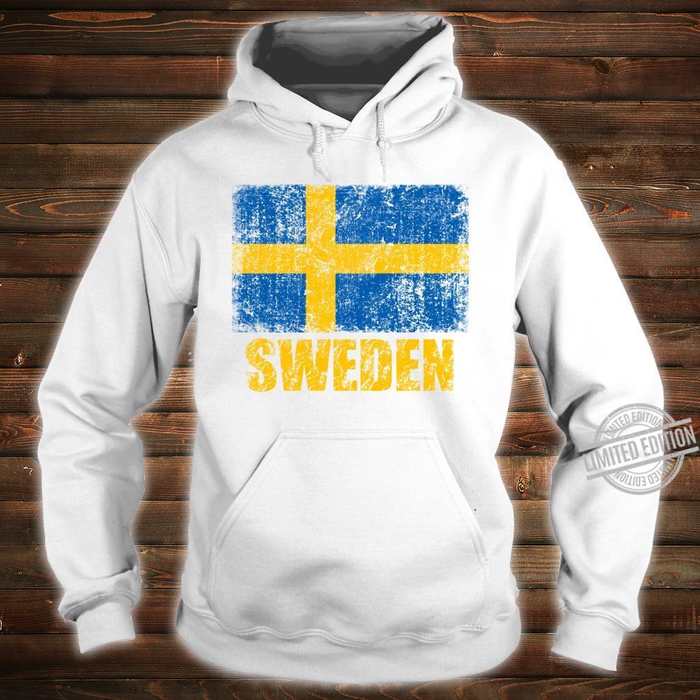 Vintages SchwedenStaatsflaggeschwedisches Kreuz Shirt hoodie