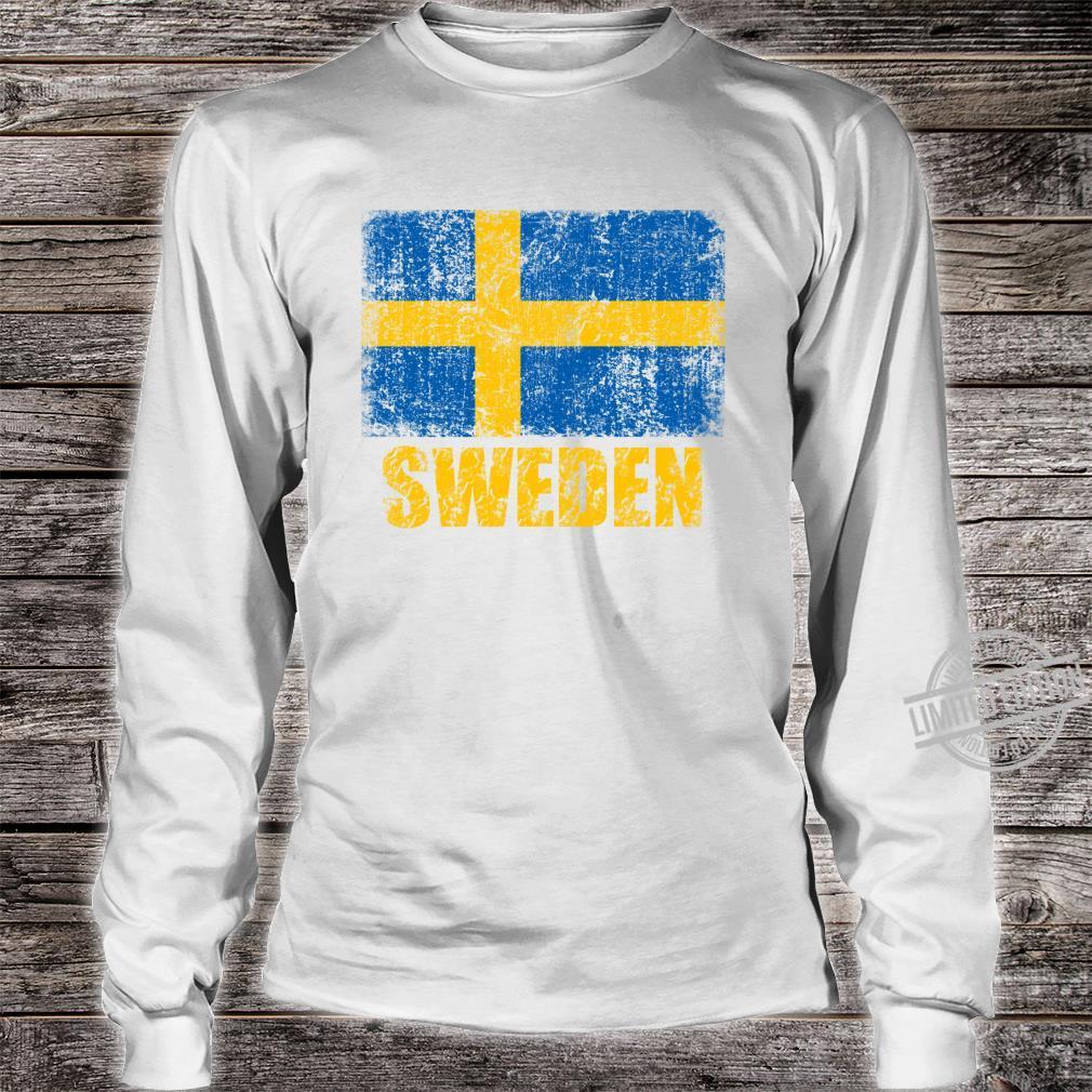Vintages SchwedenStaatsflaggeschwedisches Kreuz Shirt long sleeved