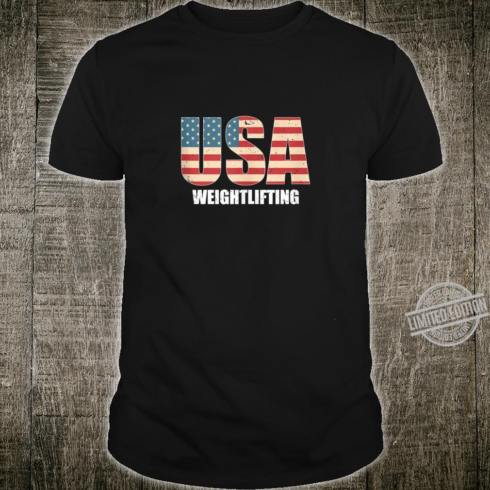 Weightlifting American Flag Workout USA Sports events 2020 Shirt