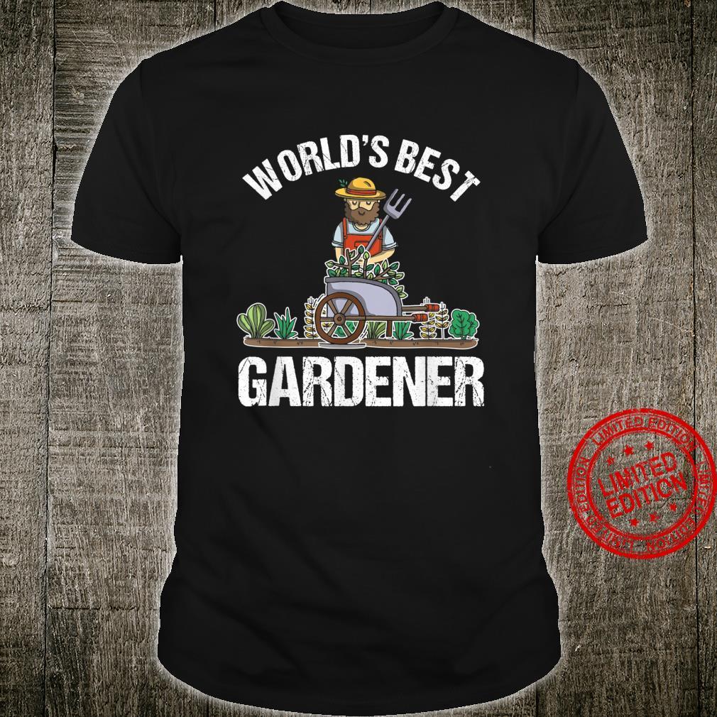 Weltbester Gärtner Gärtnerei Gartenbau Gartenarbeit Geschenk Shirt