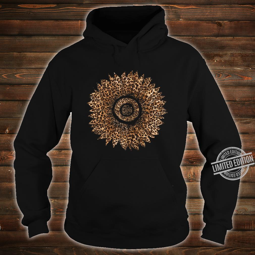 Womens Cool Sunflower Leopard Print Cheetah Mother's Day Shirt hoodie