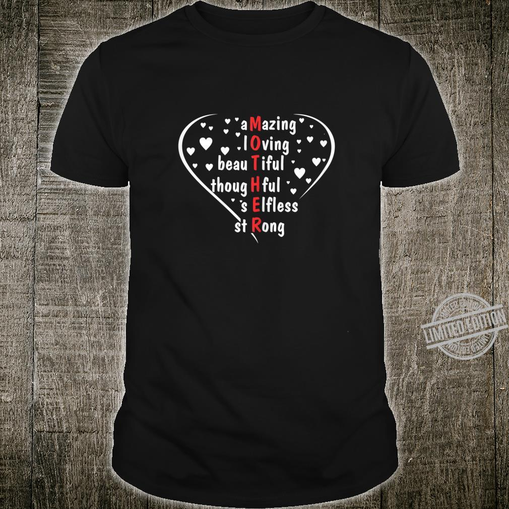 Womens Cute Mommy with Letters Mother Day Shirt